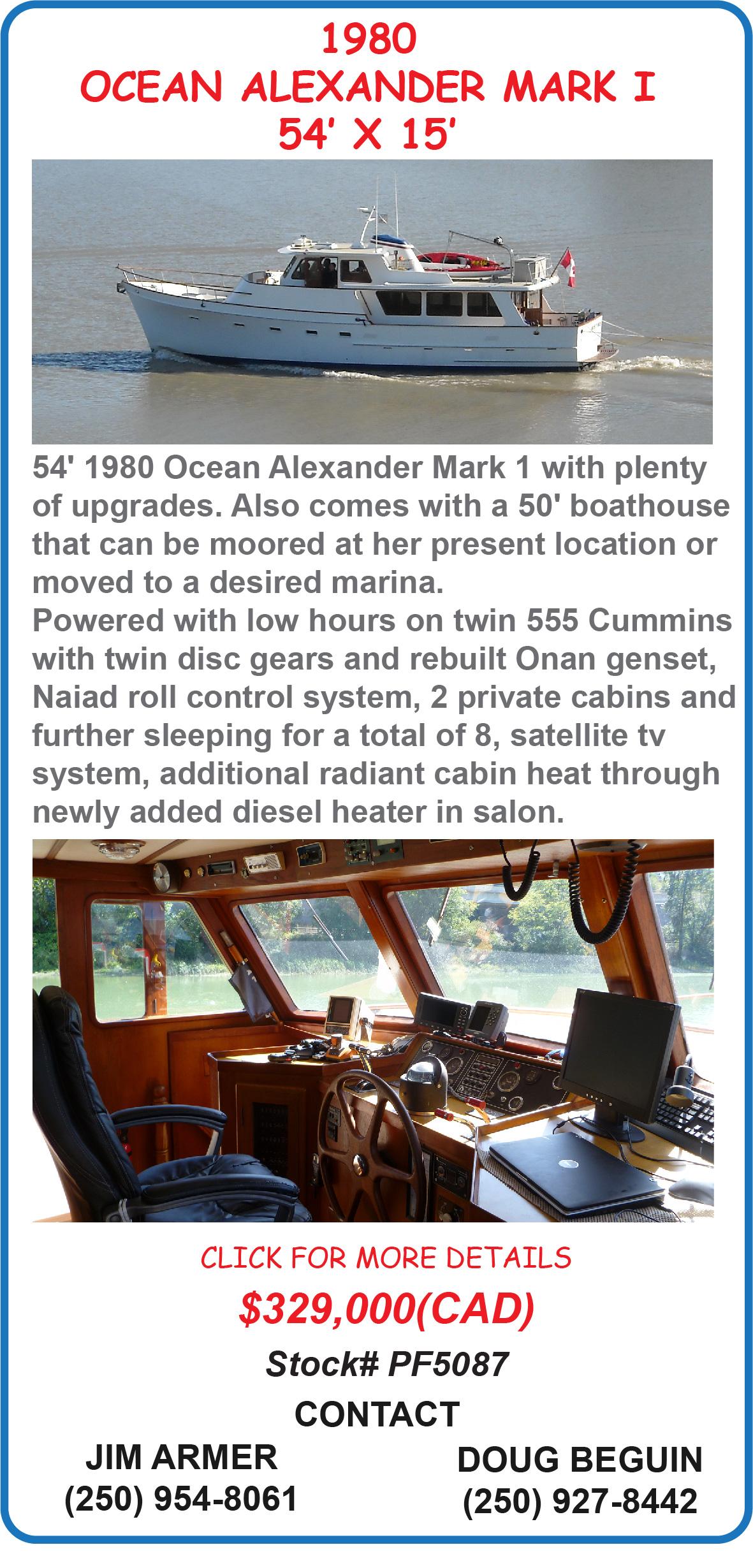 Ocean Alexander Mark I Motor Yacht