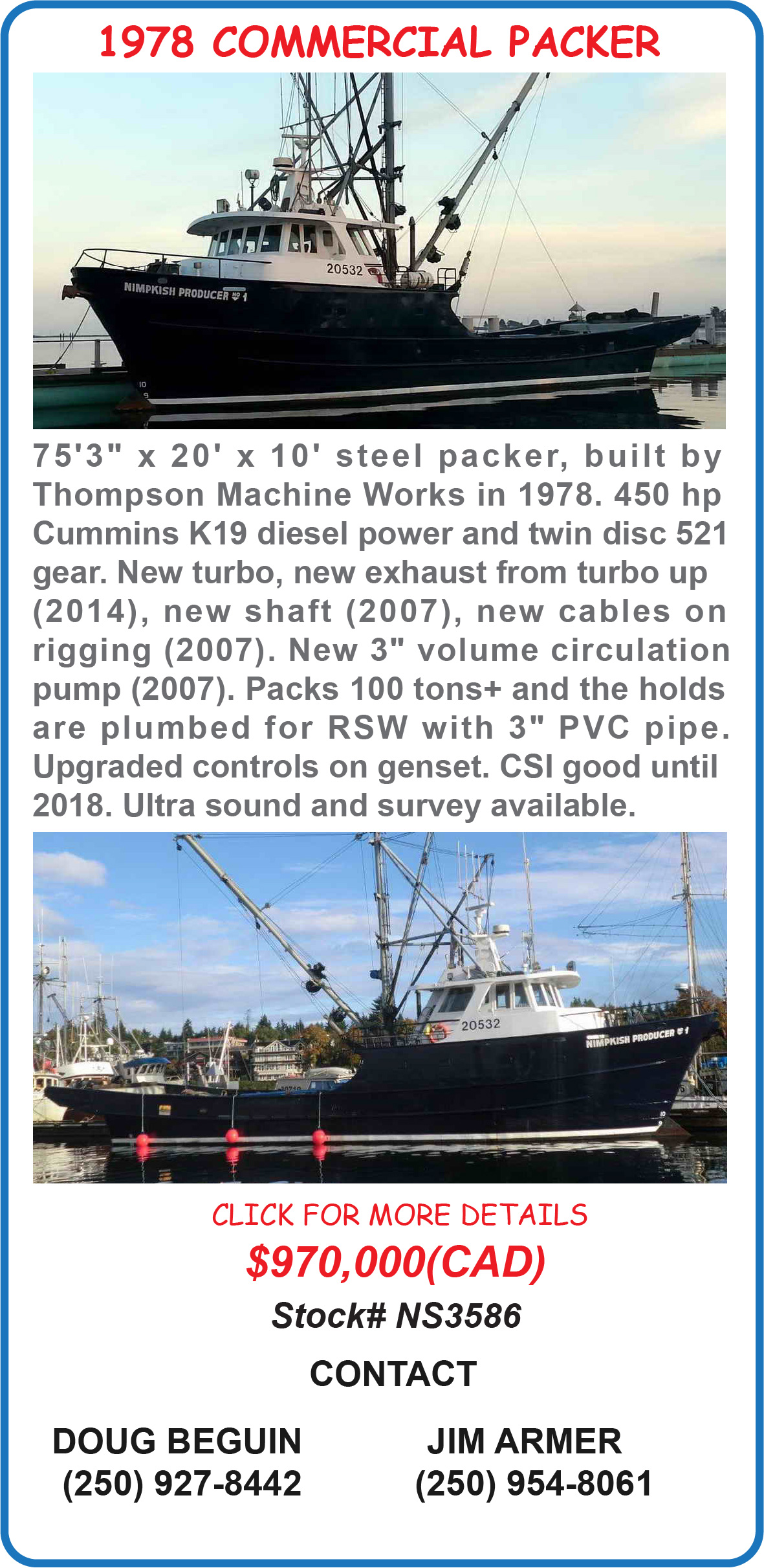 Commercial Fishing Packer
