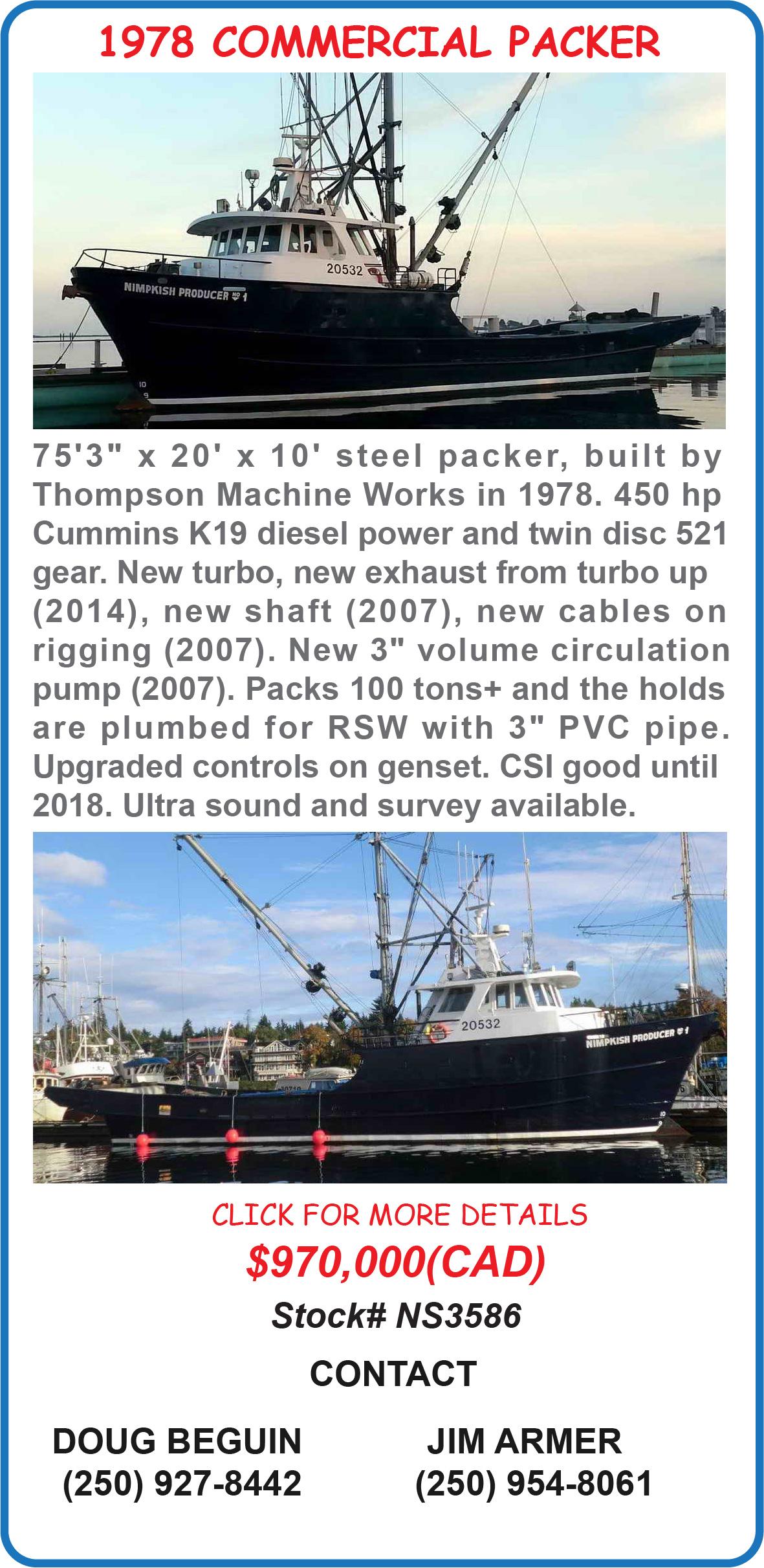 Commercial Fishing Packer
