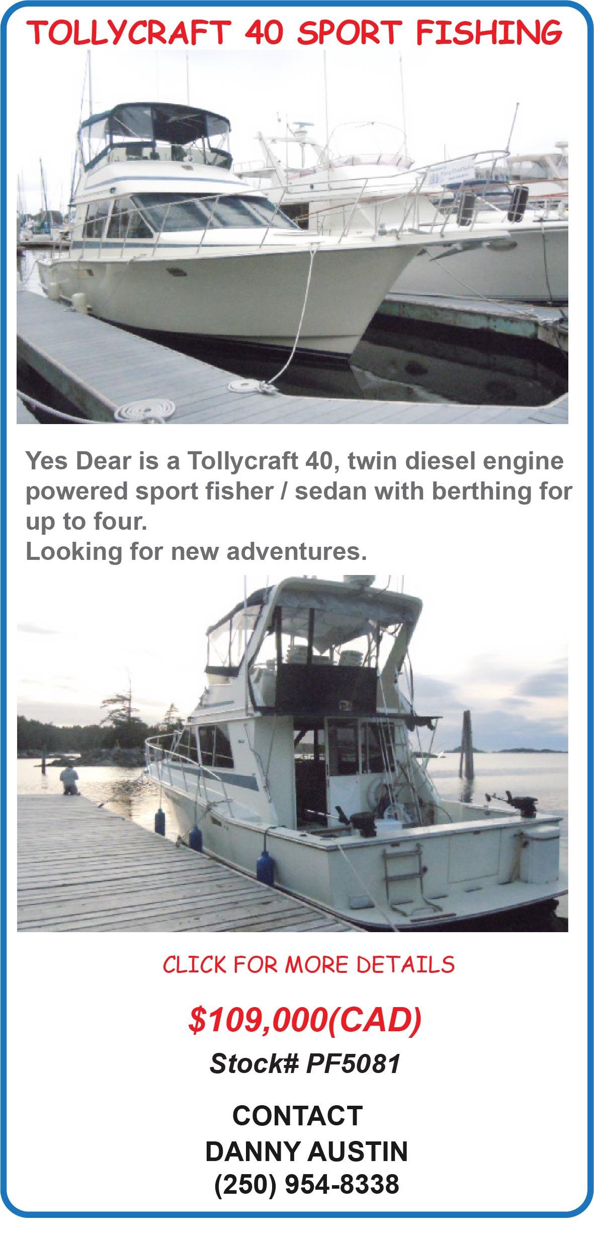 Tollycraft 40 Sport Fishing