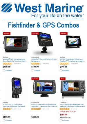 West Marine Fishfinder and GPS Combos